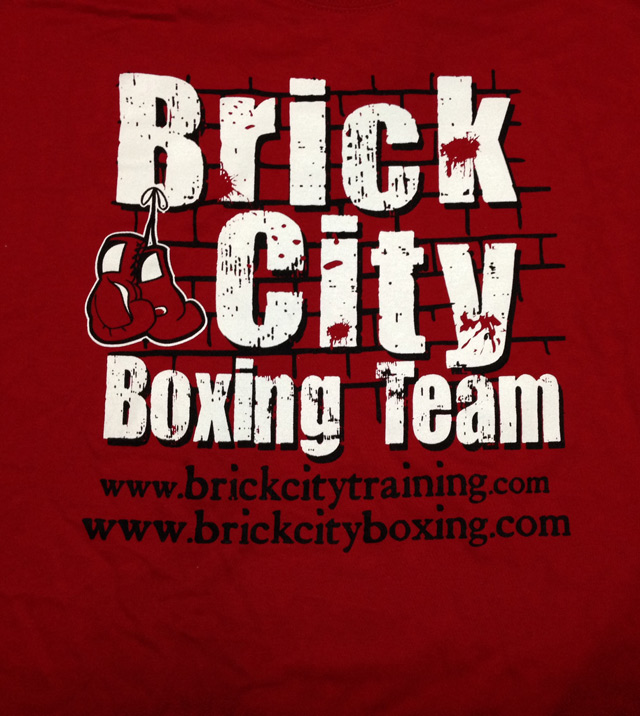 Brick City Boxing Team T-Shirt - Red