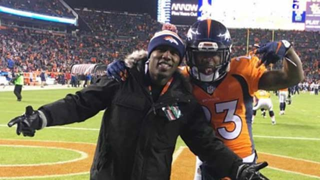 Andre Berto with Broncos Running Back