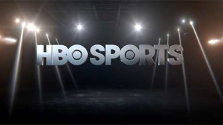 HBO Sports logo with spotlights