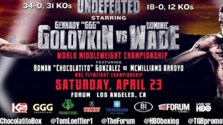 Golovkin-Wade Promotional Banner