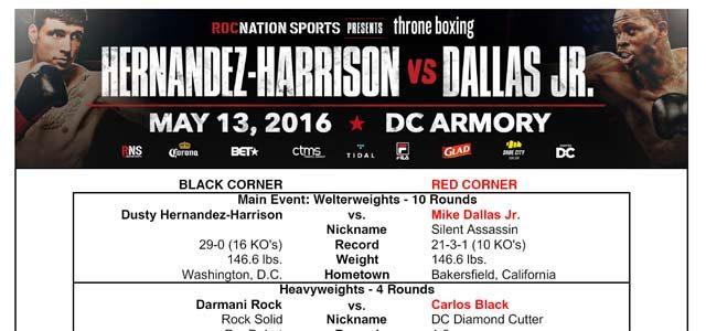 Hernandez-Harrison vs Dallas Jr Bout Sheet excerpt