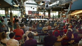 Steam Town Mall Boxing Crowd SRO