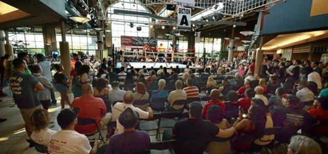 Steam Town Mall Boxing Crowd SRO