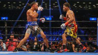 Thurman vs Porter in ring