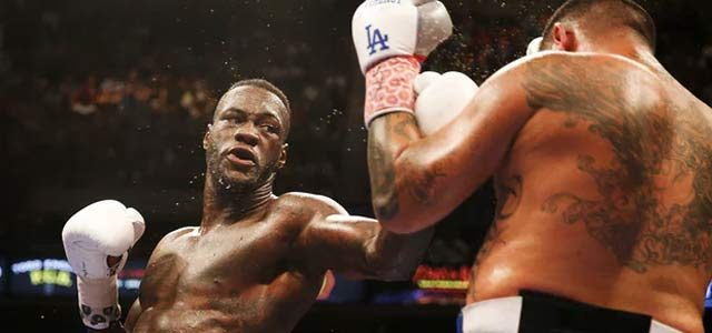 Deontay Wilder and Chris Arreola in action