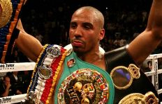 Andre Ward with Championship Belts