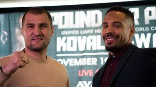 Sergey Kovalev and Andre Ward Presser Photo
