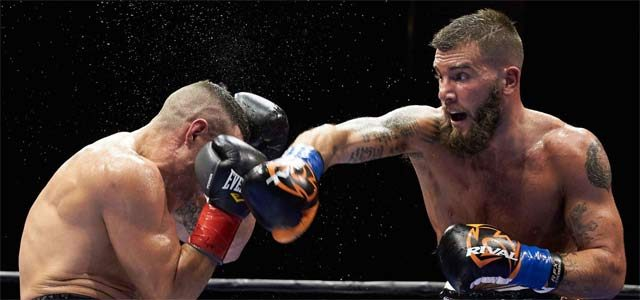 Caleb Plant in action
