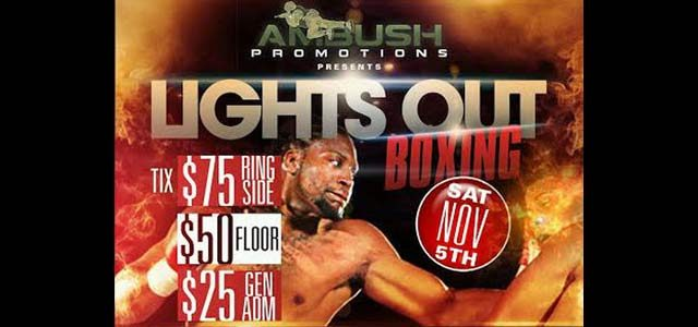 Lights Out Boxing in Morristown NOv 5