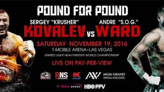 Ward vs Kovalev banner