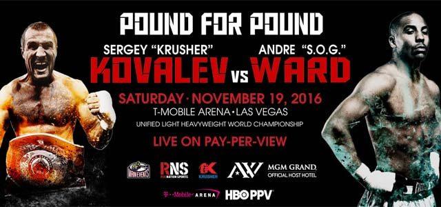 Ward vs Kovalev banner