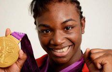 Claressa Shields with Gold Medal