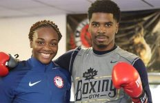 Claressa Shields and Maurice Hooker media workout