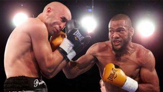 Julian Williams landing a punch