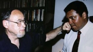 Jerry Izenberg with Muhammad Ali