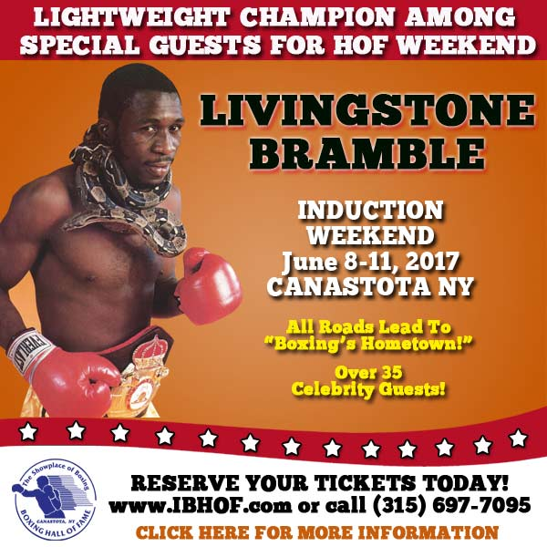 Bramble Special Guest at IBHOF Induction Ceremony 2017