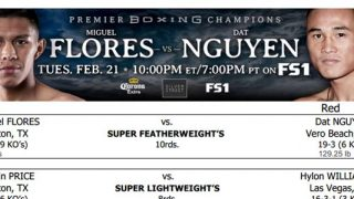 Flores vs Nguyen Bout Sheet