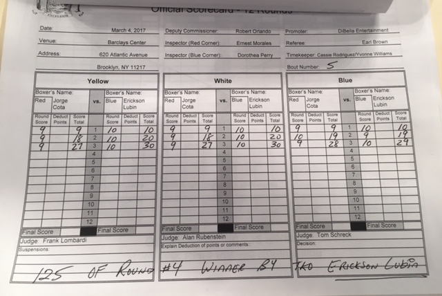 Lubin vs. Cota Scorecard
