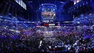 Barclays Center set up for Boxing