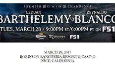 Bout Sheet: Barthelemy vs Blanco header