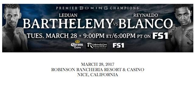 Bout Sheet: Barthelemy vs Blanco header