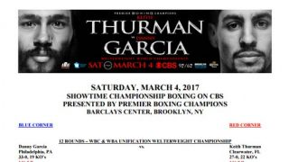 Bout Sheet for Garcia vs Thurman thumbnail