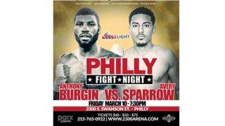 Burgin-Sparrow Philly Fight Night