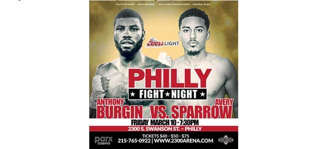 Burgin-Sparrow Philly Fight Night