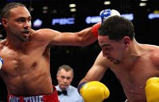 Keith Thurman and Danny Garcia in ring