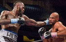 Deontay Wilder lands a shot on Gerald Washington