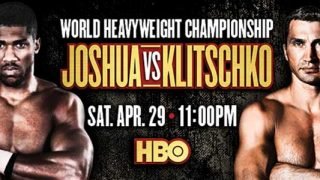 Joshua vs Klitschko Banner