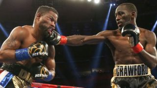 Terence Crawford hits Felix Diaz