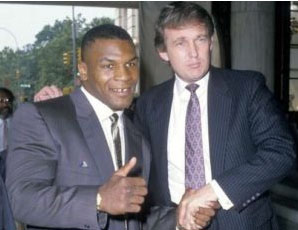 Mike Tyson with Donald Trump