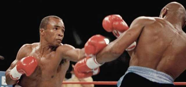 Sugar Ray Leonard and Marvin Hagler