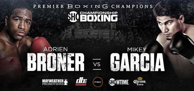 Adrien Broner vs Mikey Garcia banner