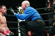 Robert Guerrero counted by ref
