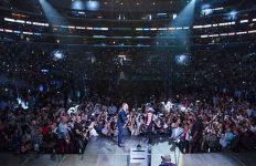 Mayweather-McGregor Presser LA Arena shot