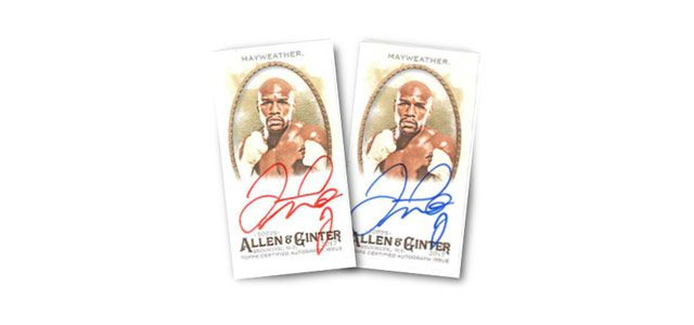 Floyd Mayweather Autographed Trading Cards