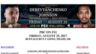 Bout Sheet: Derevyanchenkov-Johnson