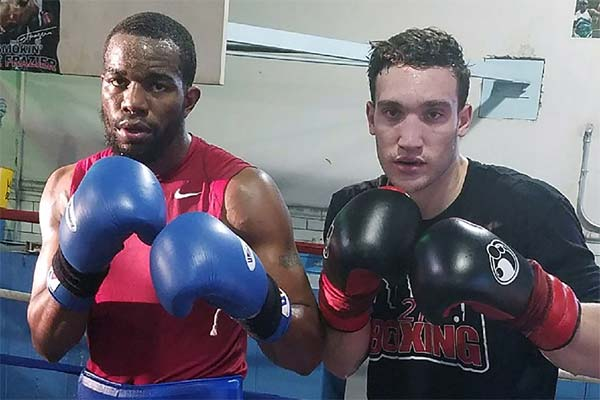 Sparring partners Jesse Hart and Sonny Conto