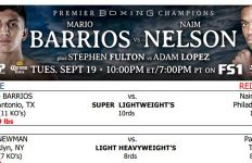 Bout Sheet: Barrios vs Nelson