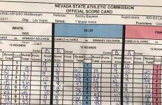 Scorecard: Canelo vs Golovkin