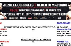 Bout Sheet: Corrales vs Machado