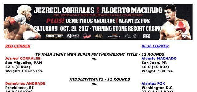 Bout Sheet: Corrales vs Machado