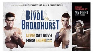 Bivol vs Broadhurst on HBO