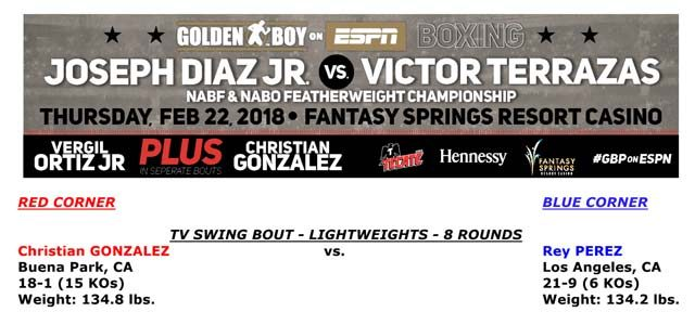 Bout Sheet: Diaz Jr vs Terrazas