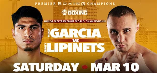 Mikey Garcia vs Sergey Lipinets banner