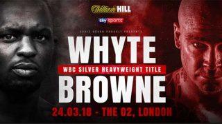Dillian Whyte vs Lucas Browne