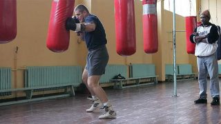 Tommy Brooks training boxer