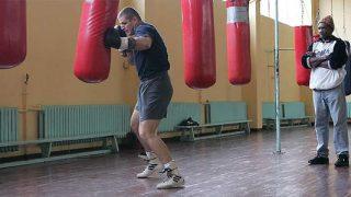 Tommy Brooks training boxer